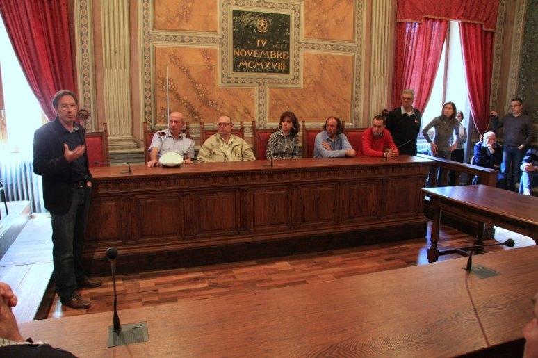 Chiusi: la prima uscita ufficiale del nuovo Sindaco Stefano Scaramelli