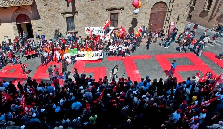 Sciopero CGIL: le foto della Manifestazione ad Arezzo
