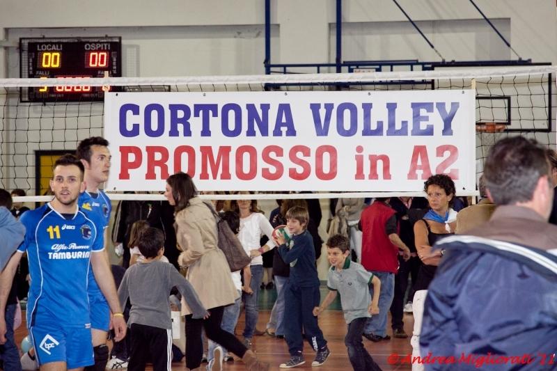 Cortona Volley: foto e video della grande festa per la serie A