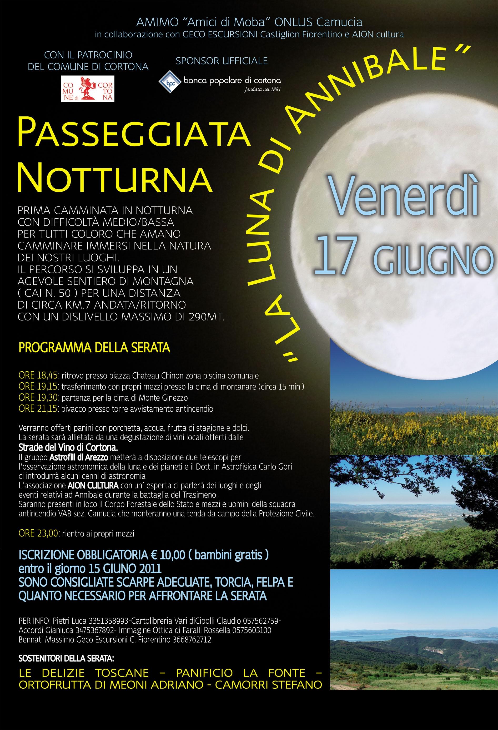 Cortona: Passeggiata notturna organizzata dalla Onlus