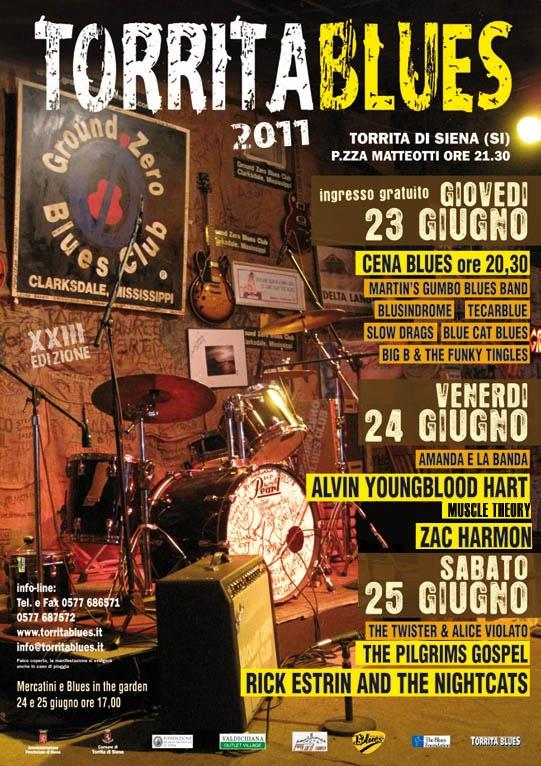 Torrita Blues 2011 dal 23 al 25 Giugno: programma completo