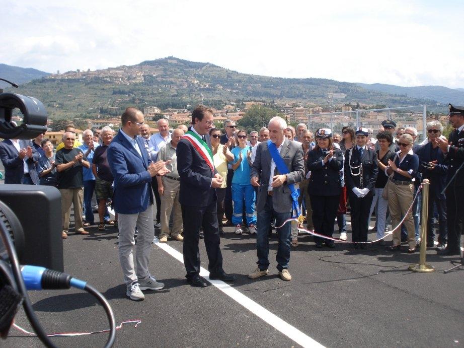 Cortona: inaugurata la Variante alla SR71 col Ponte sull'Esse