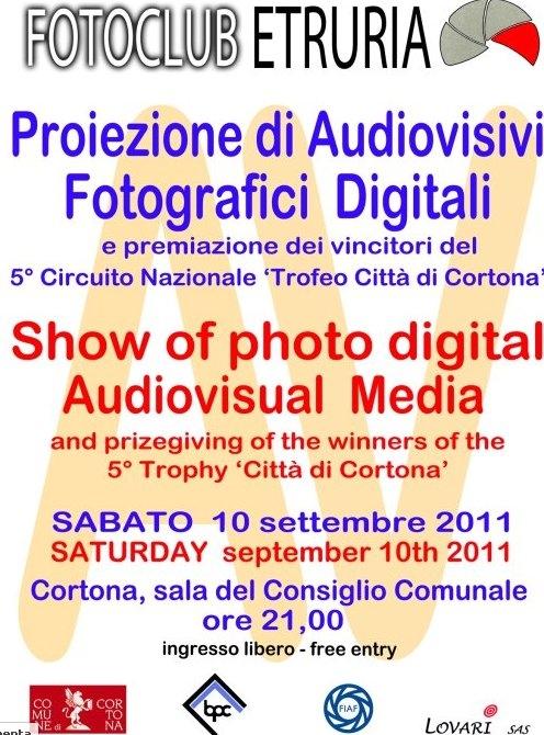 Cortona: proiezione di audiovisivi del FotoClub Etruria