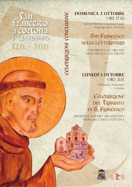 Gli ultimi due eventi dell'VIII centenario di San Francesco a Cortona