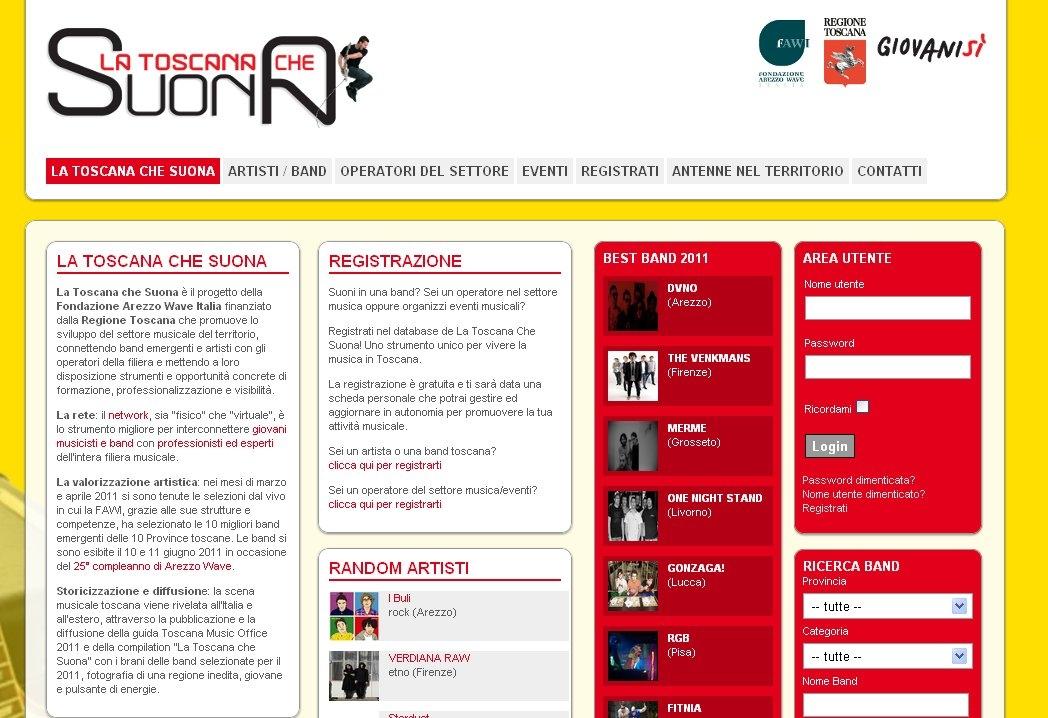 Un social network per i musicisti toscani
