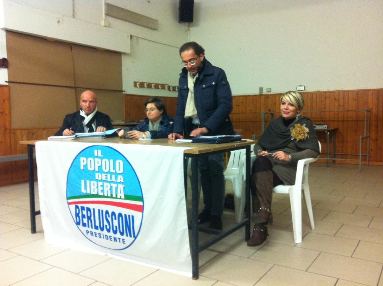 Castiglion Fiorentino, il PdL fra la gente, ieri sera incontro a La Nave