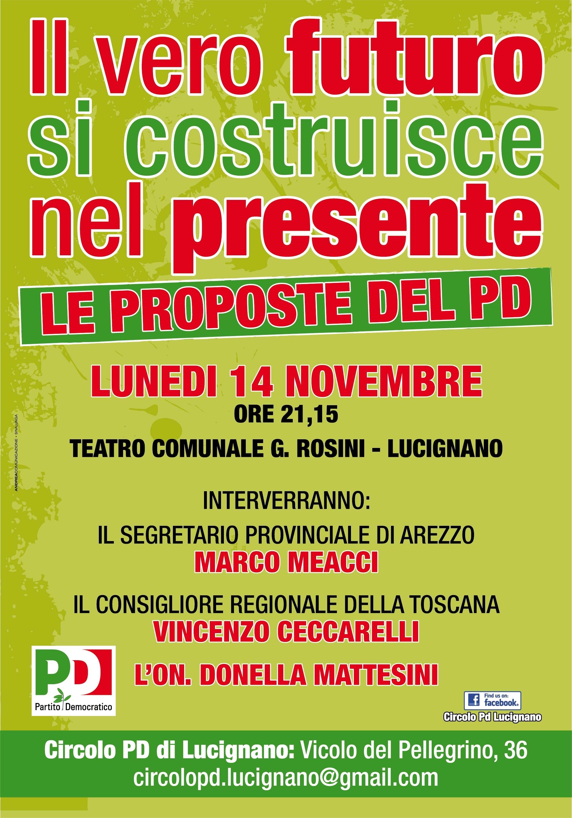 Le proposte del PD per il paese: iniziativa a Lucignano