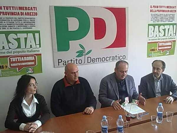 Manifestazione PD a Roma: Arezzo c'è