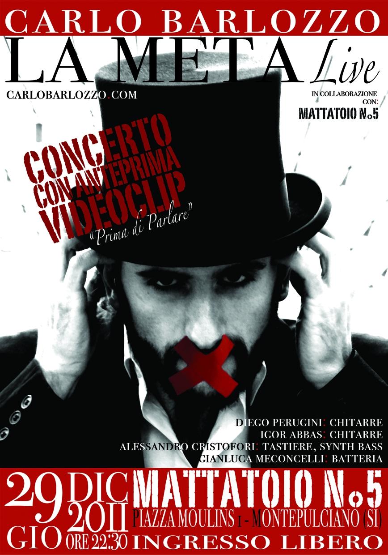 Carlo Barlozzo presenta il suo primo videoclip al Mattatoio n.5