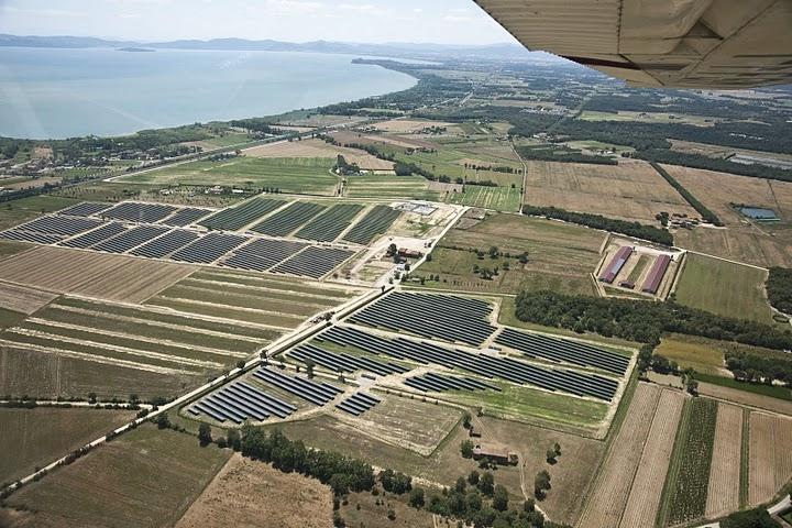 Malalbergo proietta Cortona e Arezzo al top del Fotovoltaico