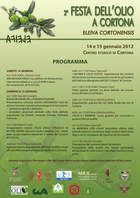 Torna Eleiva Cortonensis, la Festa dell'Olio a Cortona