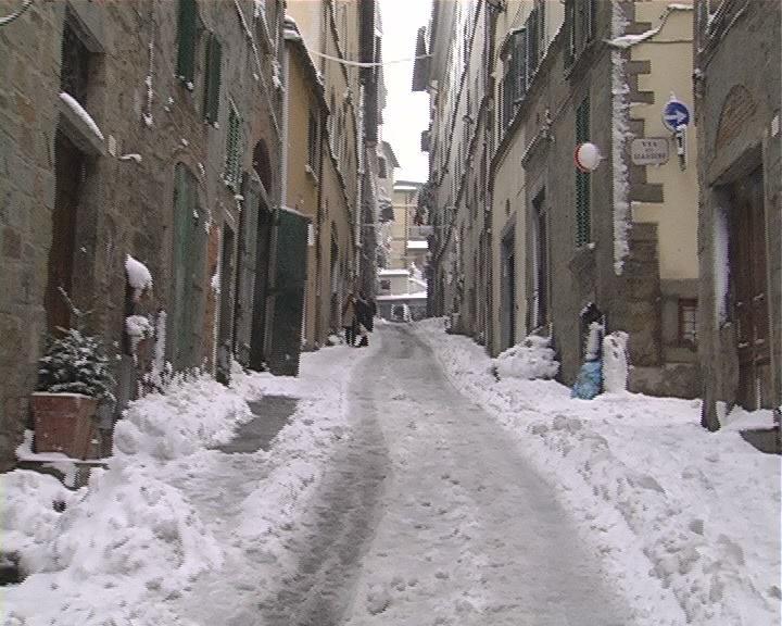 Neve e Disagi, Cortona e il centro storico