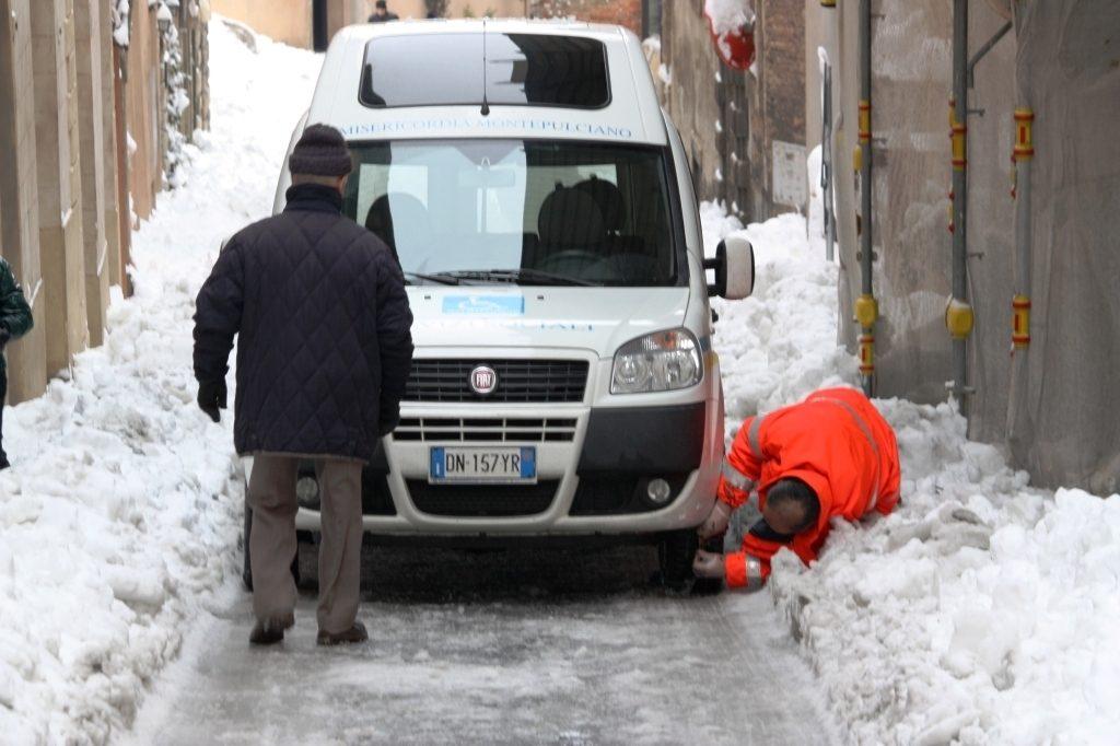 Emergenza neve: la situazione a Montepulciano