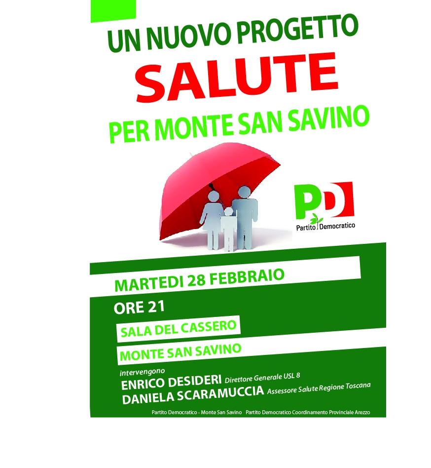 Un nuovo progetto salute per Monte san Savino: incontro pubblico PD con l'assessore regionale Scaramuccia