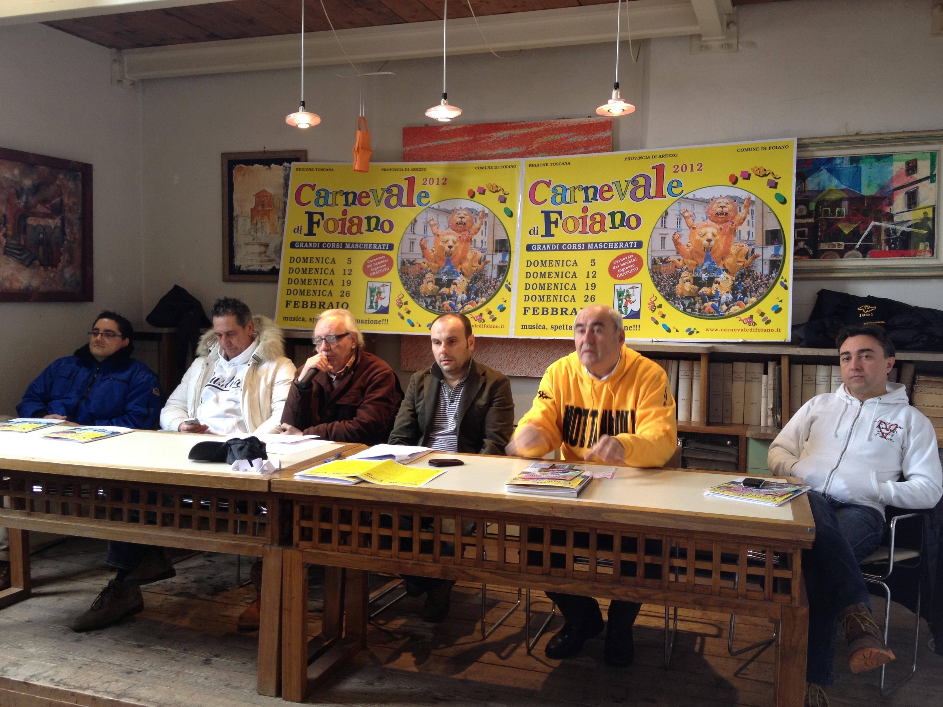 Foiano, Speciale Carnevale: estratto l'ordine di uscita dei carri