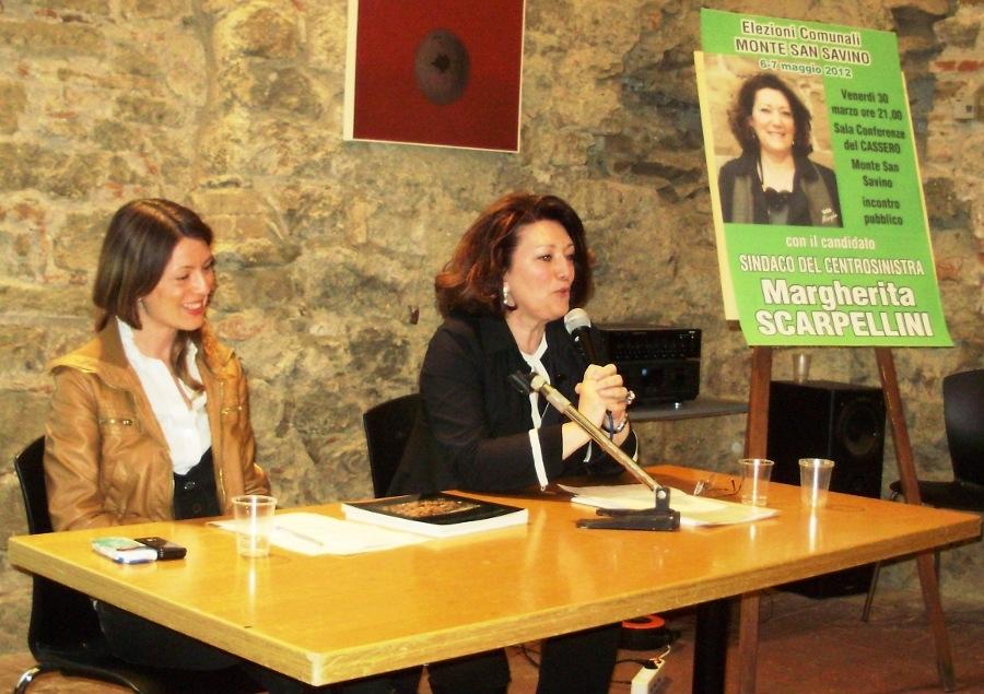 Margherita Scarpellini, Cassero gremito per il primo confronto coi cittadini