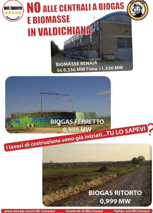 Grilli Cortonesi, gazebo informativo su Biomasse e Biogas nel territorio comunale