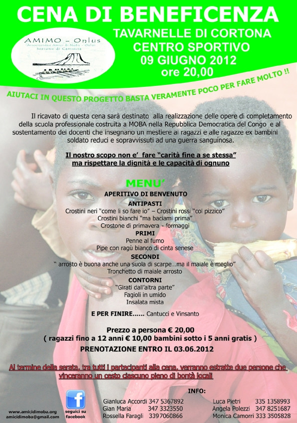 Tavarnelle: AMI.MO organizza una cena di beneficenza