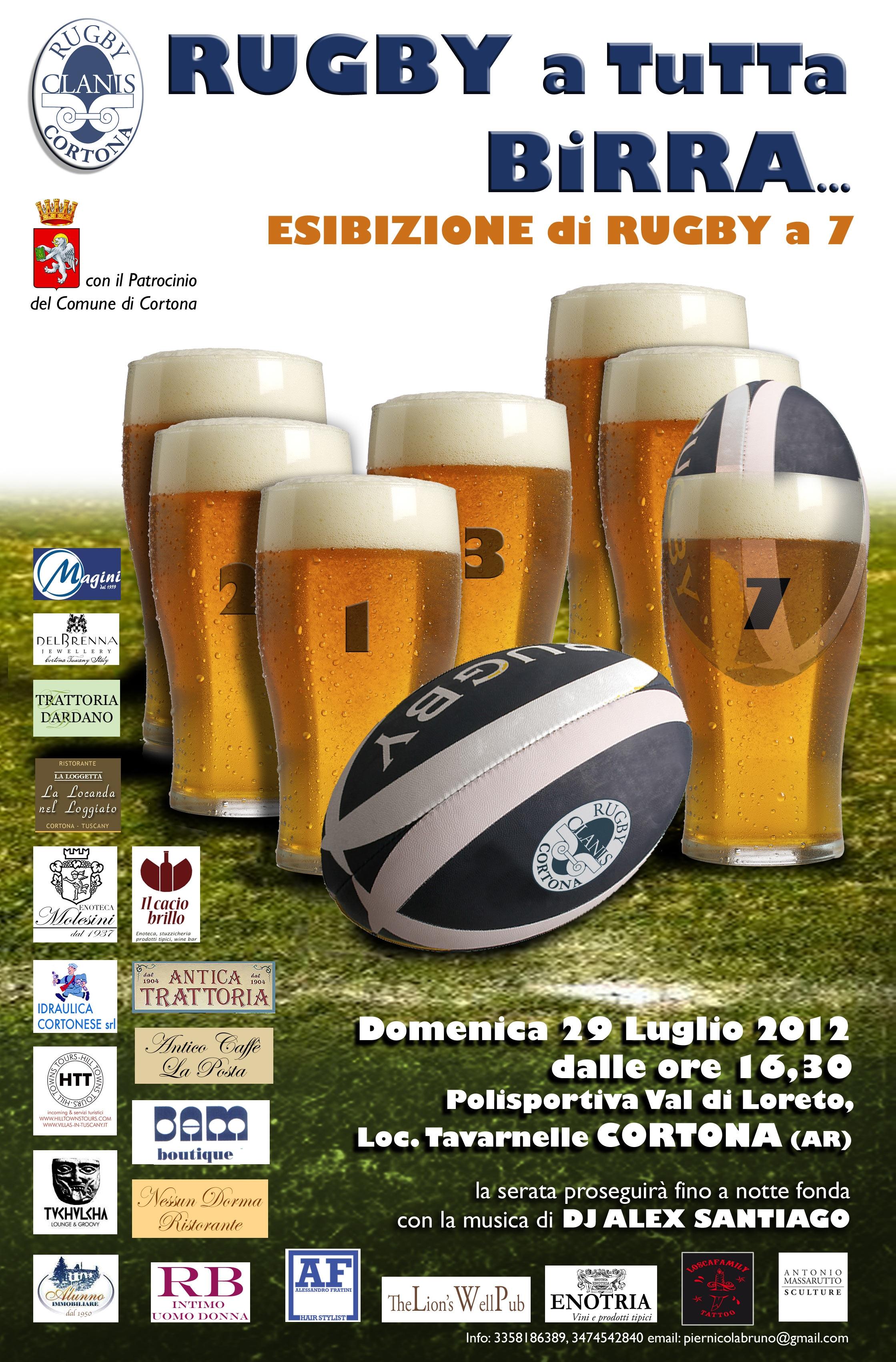 Rugby a tutta birra domenica a Tavarnelle