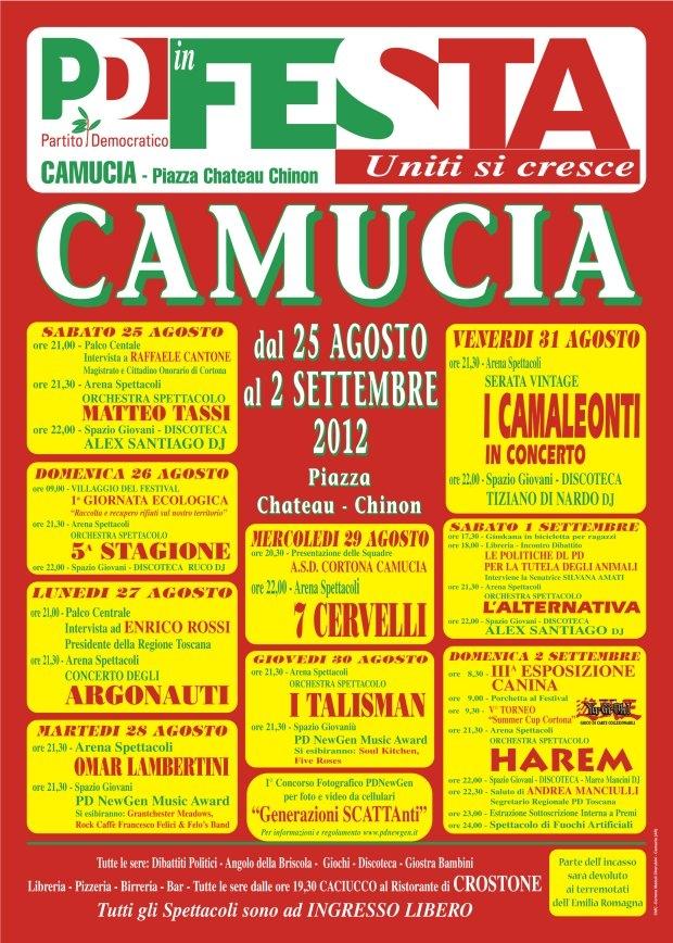 Torna la Festa PD a Camucia con eventi e molte novità