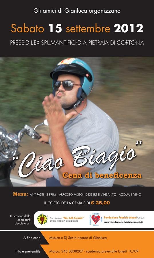Cortona: sabato prossimo cena di beneficenza in ricordo di Biagio