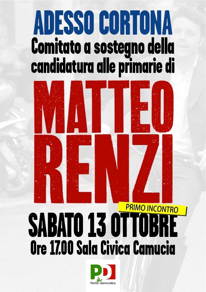 Nasce il comitato pro Renzi