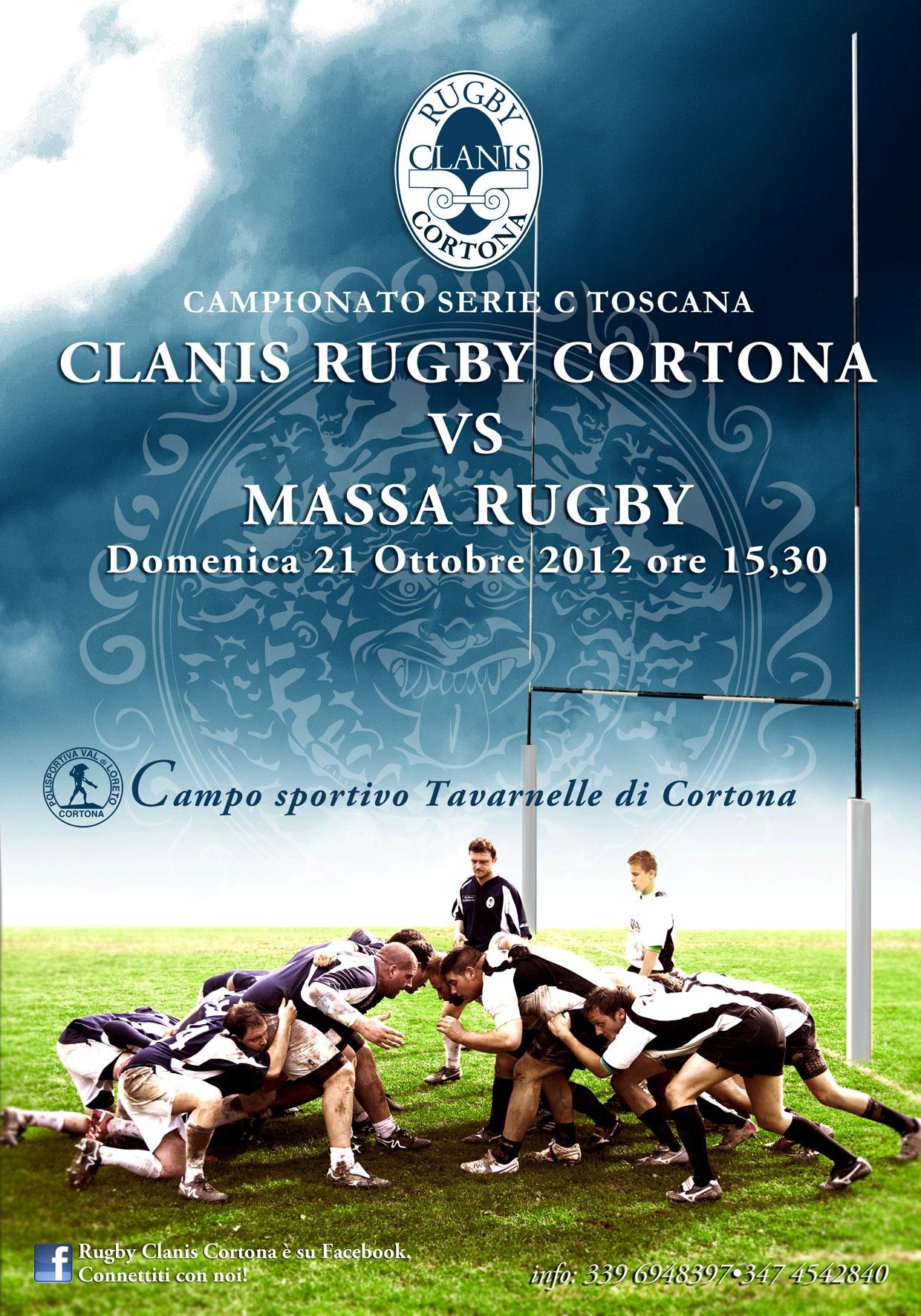 Rugby Clanis: primo impegno casalingo contro Massa