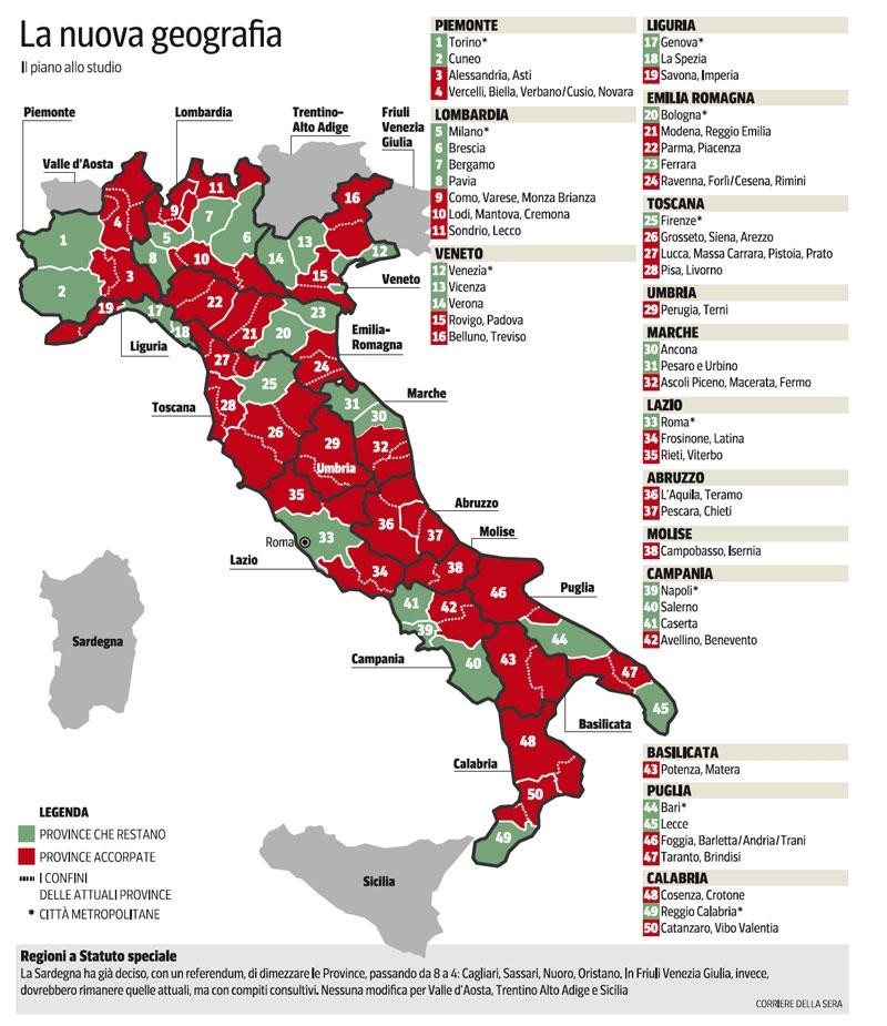 Provincia-suspence: è salva per la Regione, ma non per il Governo