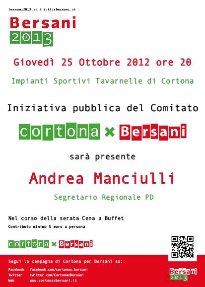 CortonaxBersani: Andrea Manciulli ospite del prossimo incontro