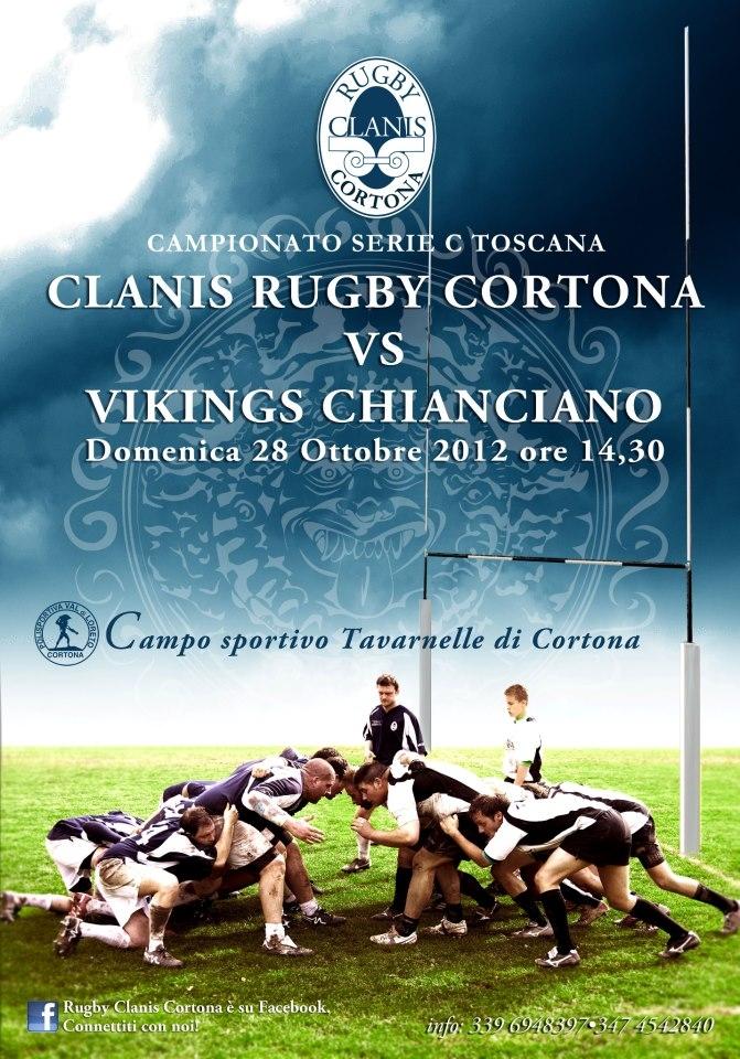 Rugby Clanis: domenica sul campo di Tavarnelle arriva il Chianciano