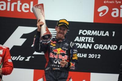 F1, GP India: Vettel vince nello smog, Alonso resiste