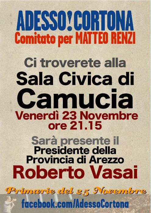 Il Comitato Adesso Cortona incontra Roberto Vasai