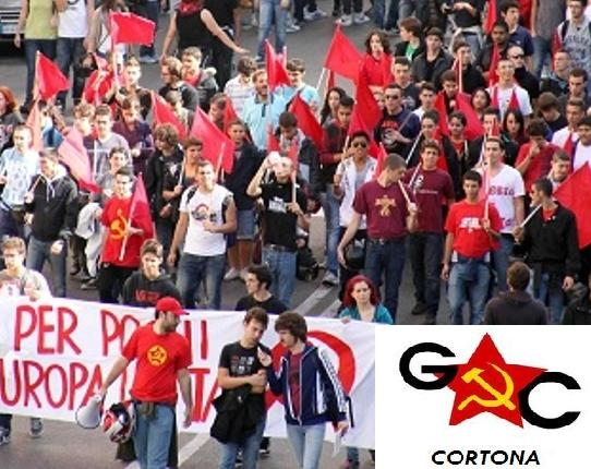 I Giovani Comunisti di Cortona sostengono le lotte degli studenti