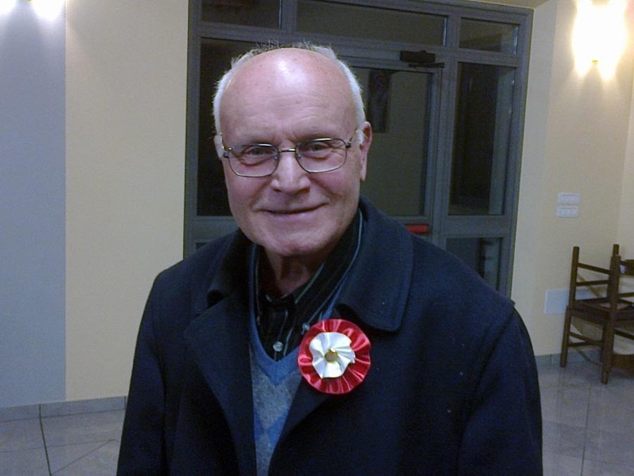 Don Giuliano Faralli presidente del Gruppo Storico e Sbandieratori Città di Castiglion Fiorentino