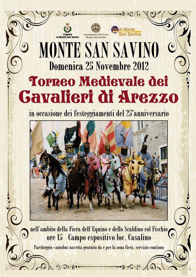 Monte San Savino: domenica il Torneo di Cavalieri di Arezzo