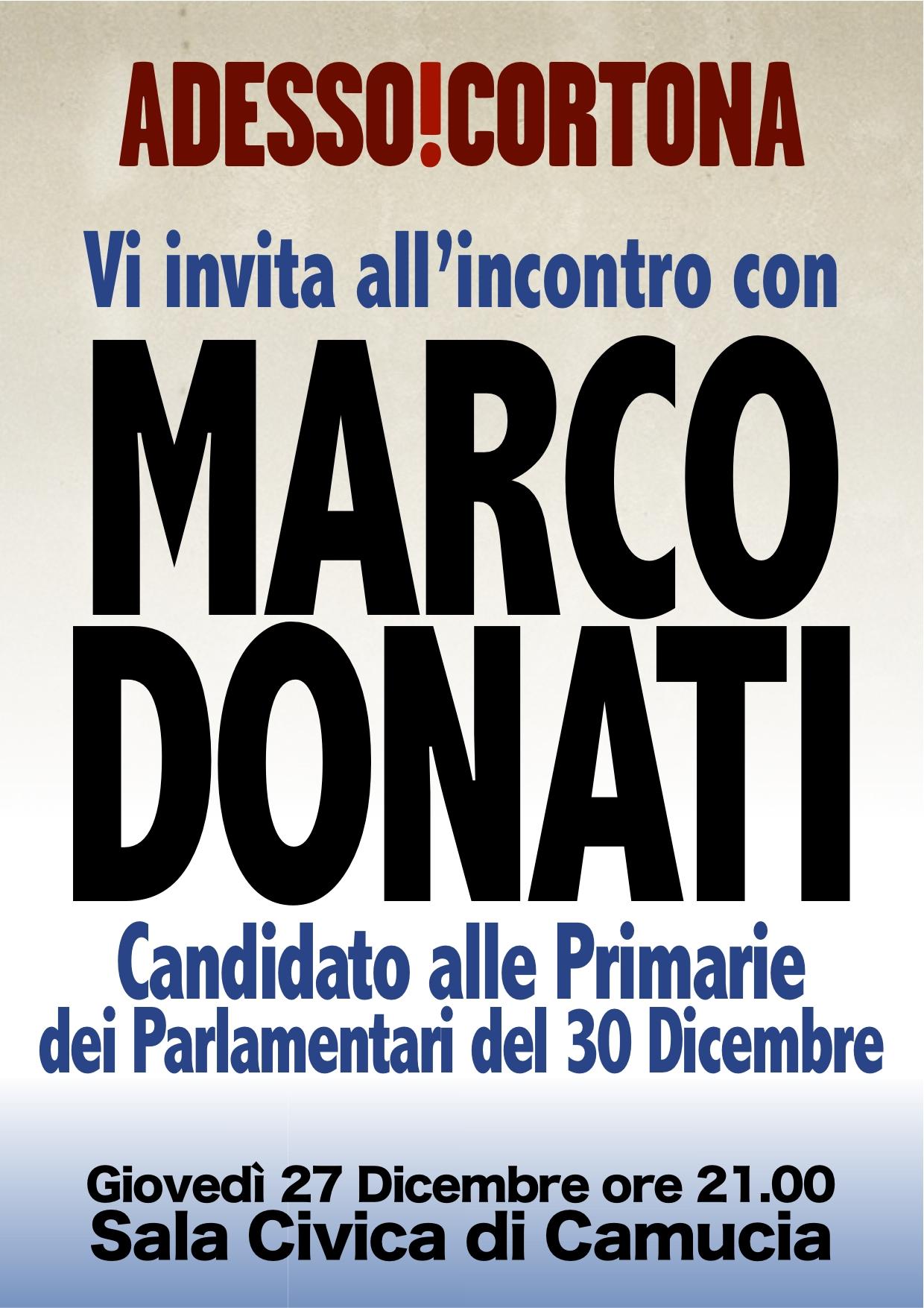 Sostegno del Comitato Renzi cortonese a Marco Donati