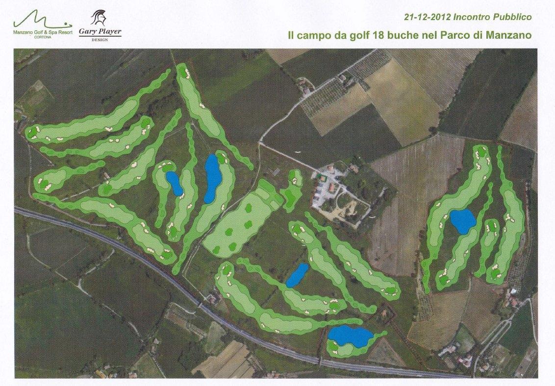 Cortona: Manzano Sviluppo ha presentato il progetto per il Campo da Golf