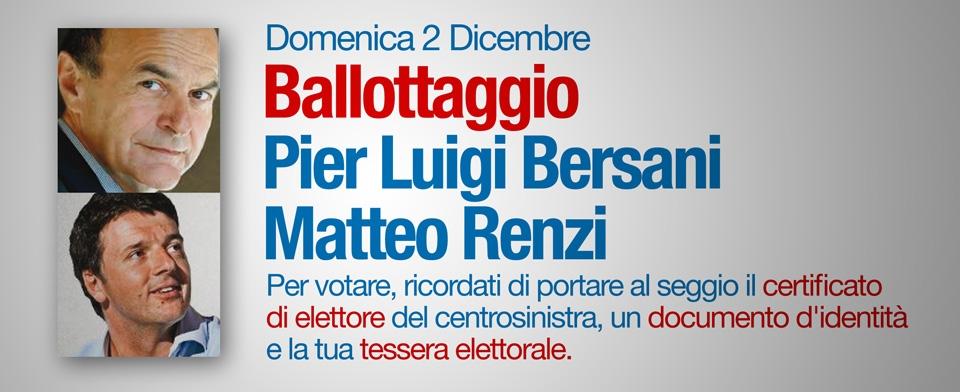 Ballottaggio: in Valdichiana Renzi vincente ovunque, ma Bersani recupera rispetto al primo turno