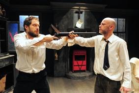 Claudio Santamaria e Filippo Nigro sul palco del Verdi di Monte San Savino
