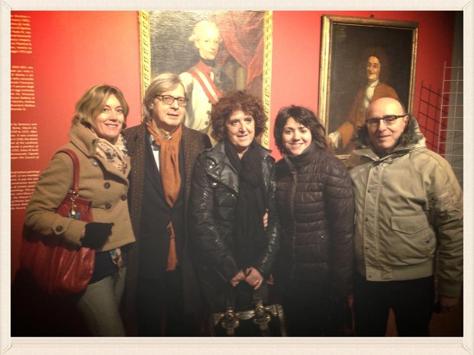 Vittorio Sgarbi in tour fra i tesori storico-artistici di Monte San Savino