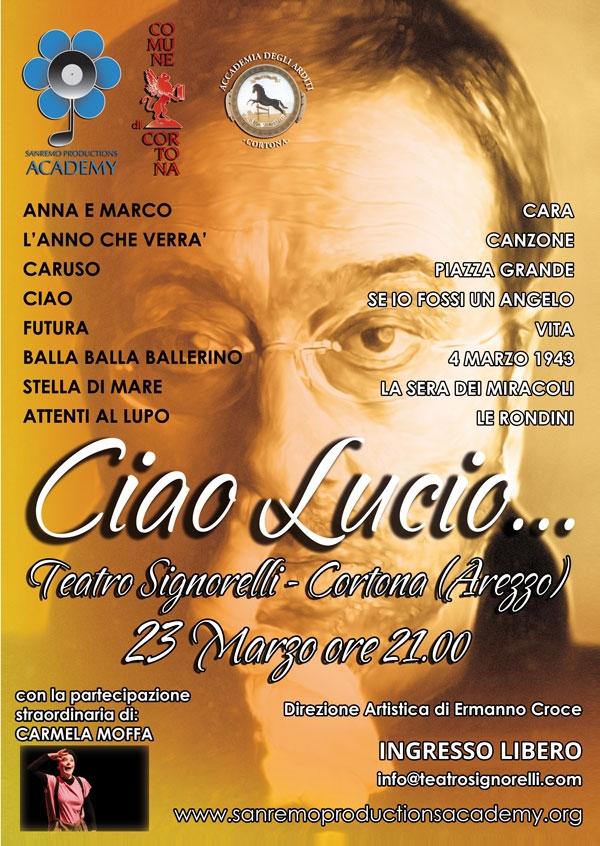 Cortona: spettacolo in ricordo di Lucio Dalla