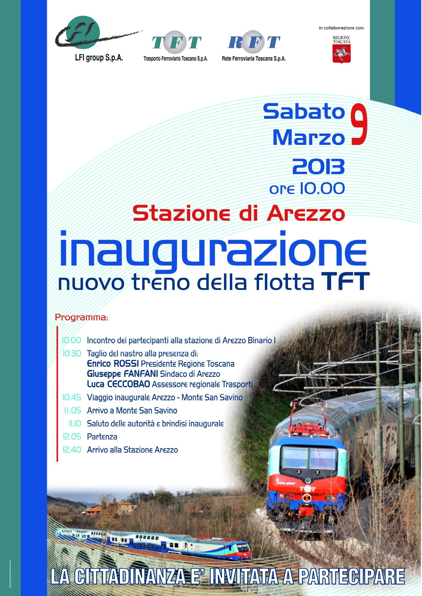 Il nuovo Treno Vivalto a Monte San Savino. Viaggio inaugurale col Presidente Regionale Rossi
