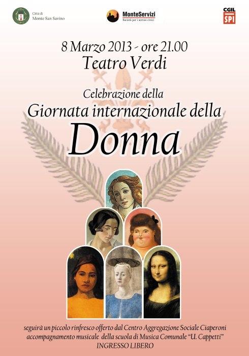 Monte San Savino: 8 Marzo al Teatro Verdi. Si insedia la Commissione Pari Opportunità