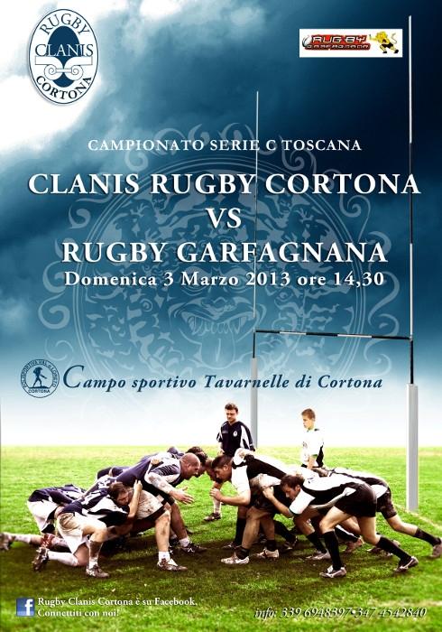 Rugby: impegno casalingo domenica prossima per il Clanis Cortona contro Il Garfagnana