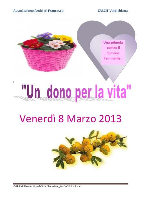 8 Marzo: un fiore per finanziare la lotta contro i tumori femminili