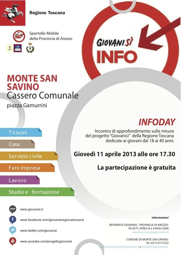 InfoDay GiovaniSì a Monte San Savino