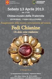 Le fedi chianine: mostra a Foiano