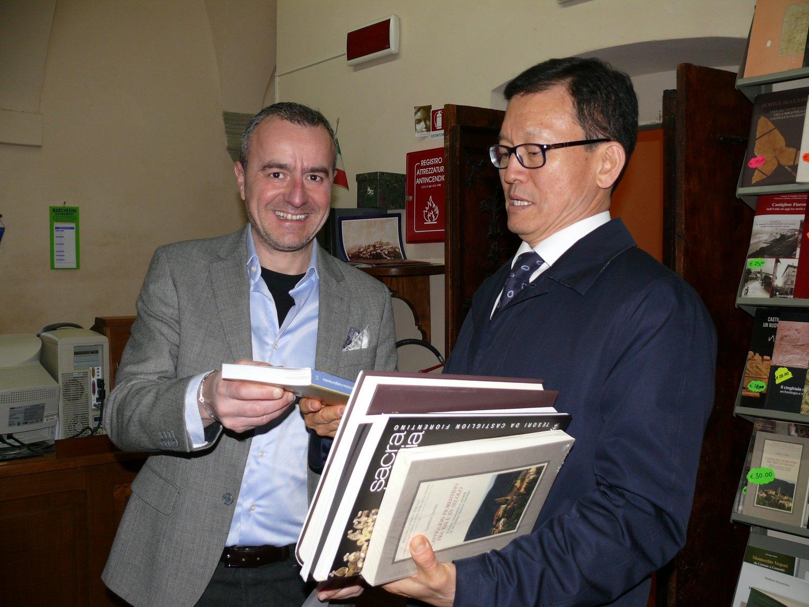 Castiglion Fiorentino: Pasquetta con l'ambasciatore della Corea del Sud, in visita