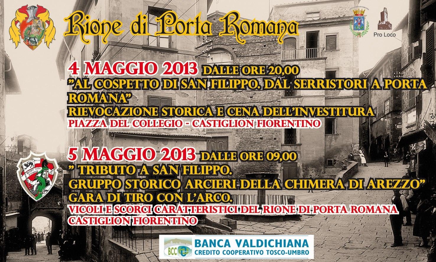 Castiglion Fiorentino: settimana ricca di eventi per il Rione di Porta Romana