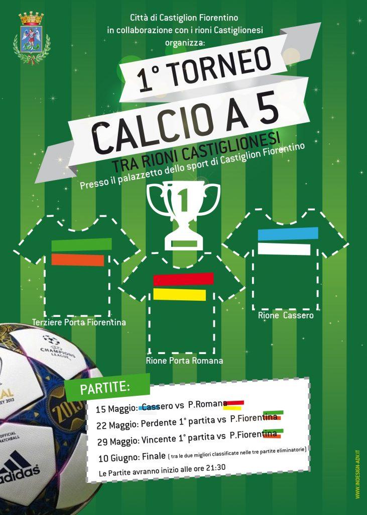 Castiglioni, al via il torneo di calcio a 5 fra i rioni